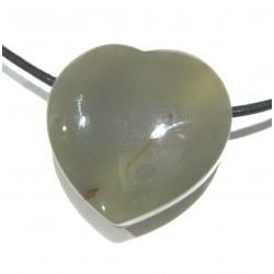 Herz gebohrt Achat 30 mm
