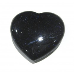 Herz Blaufluss (Kunstglas) 38 mm