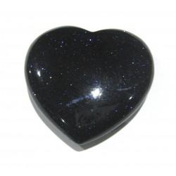Herz Blaufluss (Kunstglas) 45 mm bauchig