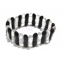 Armband Welle Obsidian Bergkristall 25 mm