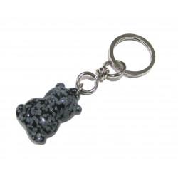Schlüsselanhänger Teddy Obsidian Schneeflocke
