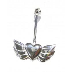 Donuthalter Geflügeltes Herz Silber