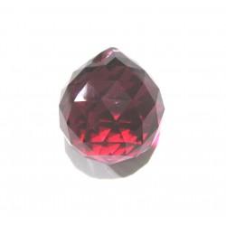 Swarovski Kugel rot 20 mm künstliches Produkt - Glas