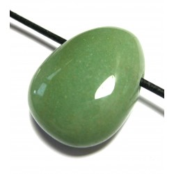 Tropfen gebohrt Aventurinquarz grün L