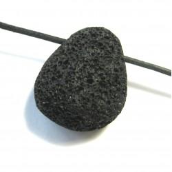 Trommelstein gebohrt Lava