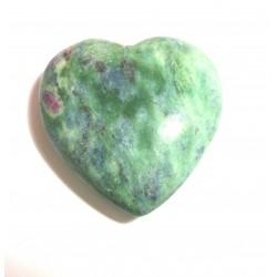 Herz Fuchsit mit Rubin 30 mm