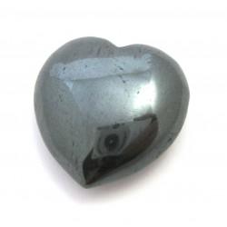 Herz Hämatit 55 mm bauchig