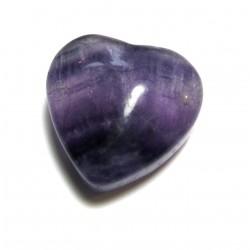 Herz Fluorit lila 25 mm