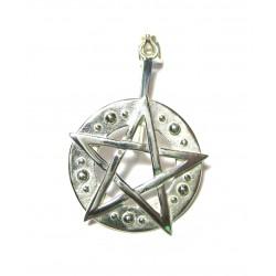 Donuthalter Pentagramm Silber
