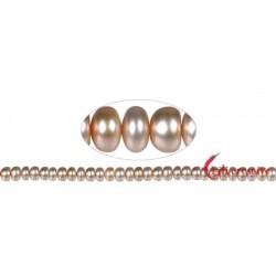 Strang Button Süßwasser-Perle A rosa (gefärbt) 6-7 mm