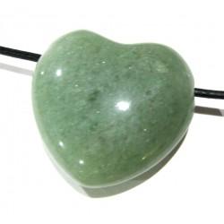 Herz gebohrt Aventurinquarz grün 30 mm