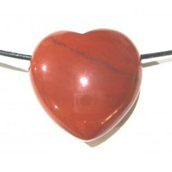 Herz gebohrt Jaspis rot 30 mm