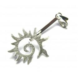 Donuthalter Flammen-Spirale 40 mm Silber matt