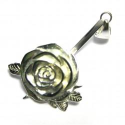 Donuthalter Rose Silber