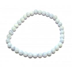 Kugel-Armband Chalcedon blau 6 mm