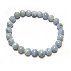 Kugel-Armband Chalcedon blau 8 mm