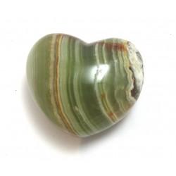 Herz Aragonit-Calcit grün-braun 45 mm bauchig