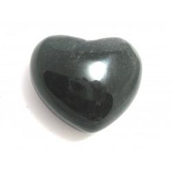 Herz Obsidian Silber 45 mm bauchig