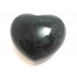 Herz Obsidian schwarz 45 mm bauchig