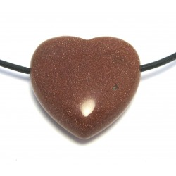 Herz gebohrt Goldfluss (Kunstglas) 30 mm