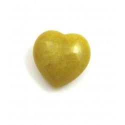 Herz Dolomit gelb 25 mm