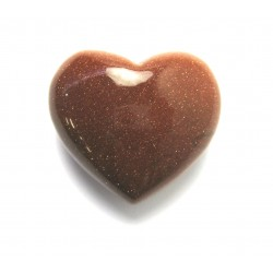Herz Goldfluss (Kunstglas) 45 mm bauchig