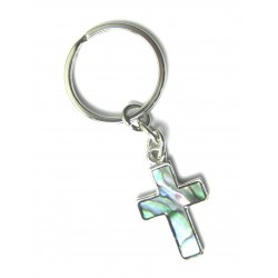 Schlüsselanhänger Kreuz Pauamuschel