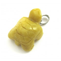 Schildkröte mit  Metall-Öse Dolomit gelb