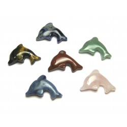 Delfin quergebohrt  Mischung 2,5 cm VE 10 Stück