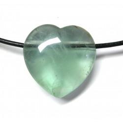 Herz gebohrt Fluorit grün 25 mm