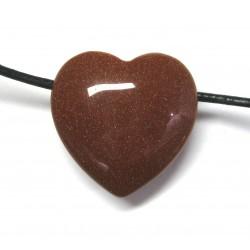 Herz gebohrt Goldfluss (Kunstglas) 25 mm