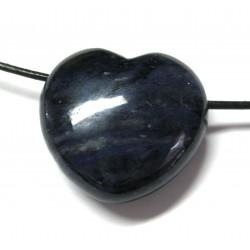 Herz gebohrt Dumortieritquarz 30 mm