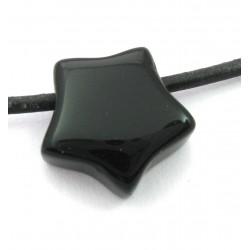 Stern gebohrt Onyx (gefärbt) 15 mm