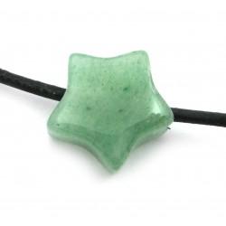 Stern gebohrt Aventurinquarz grün 15 mm