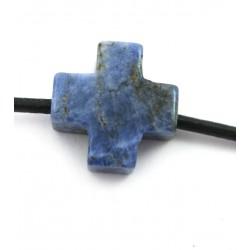 Kreuz gebohrt Sodalith 15 mm
