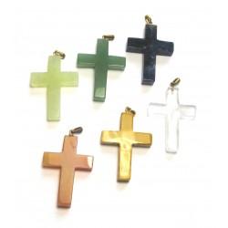 Kreuz mit Öse 3x4 cm Mischung VE 6 Stück