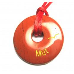 Wunscherfüllungs-Donut Mut Jaspis rot 40 mm