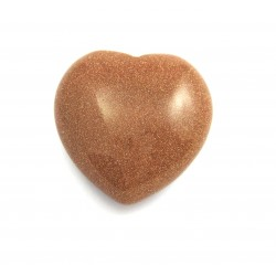 Herz Goldfluss (Kunstglas) 25 mm