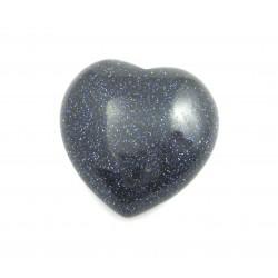 Herz Blaufluss (Kunstglas) 35 mm