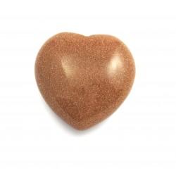 Herz Goldfluss (Kunstglas) 35 mm