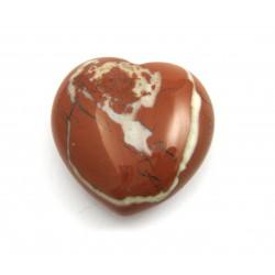 Herz Jaspis rot mit weiß 35 mm