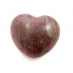 Herz Piemontit-Quarz 45 mm bauchig