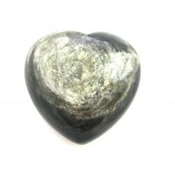 Herz Muskovitquarz stabilisiert 45 mm bauchig