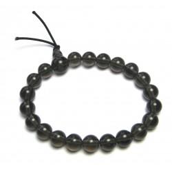 Kraft-Armband Obsidian Rauch-