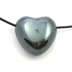 Herz gebohrt Hämatit 30 mm