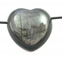 Herz gebohrt Hypersthen (Ferro-Enstatit) 30 mm