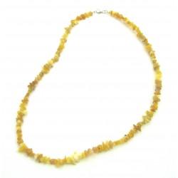 Splitterkette Opal gelb mit Farbschiller 45 cm