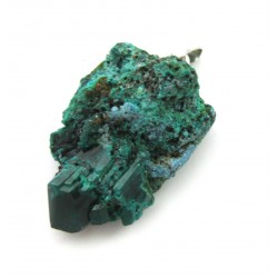 Anhänger Dioptas Kristall Gruppe 2-3 925er Silber-Öse