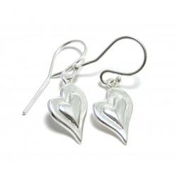 Ohrhänger Herz geschwungen 925er Silber