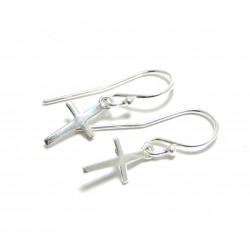Ohrhänger Passions-Kreuz 925er Silber